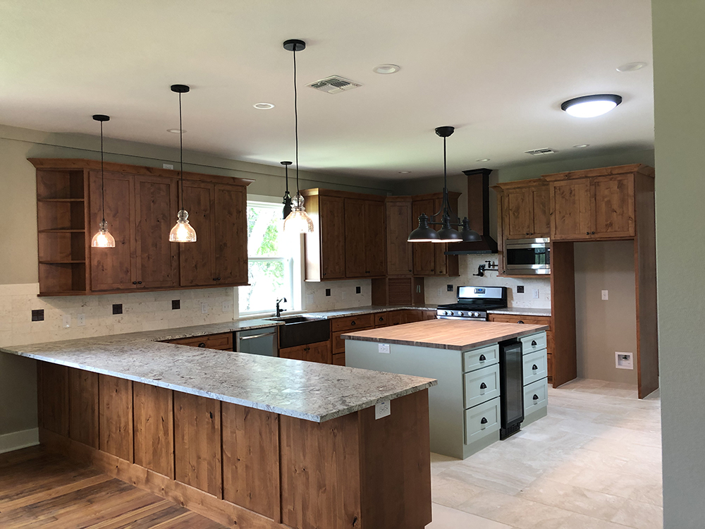 Elgin Remodel Addition Kitchen from Custom Home Builder in Bastrop