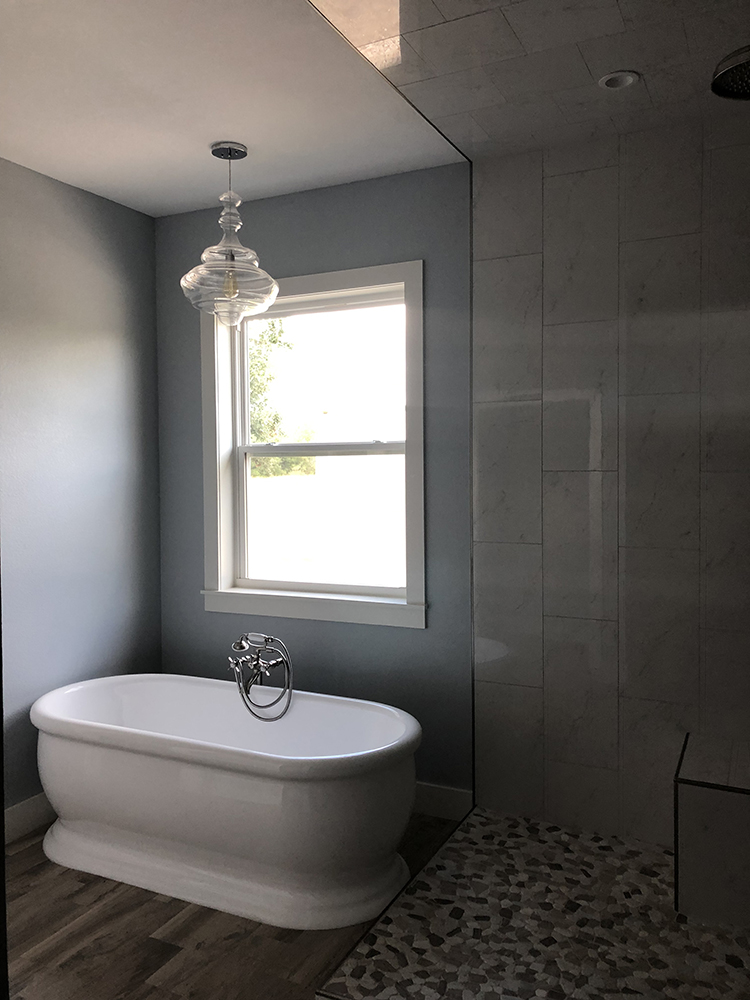 Elgin Remodel Addition Master Bathroom from Custom Home Builder in Bastrop